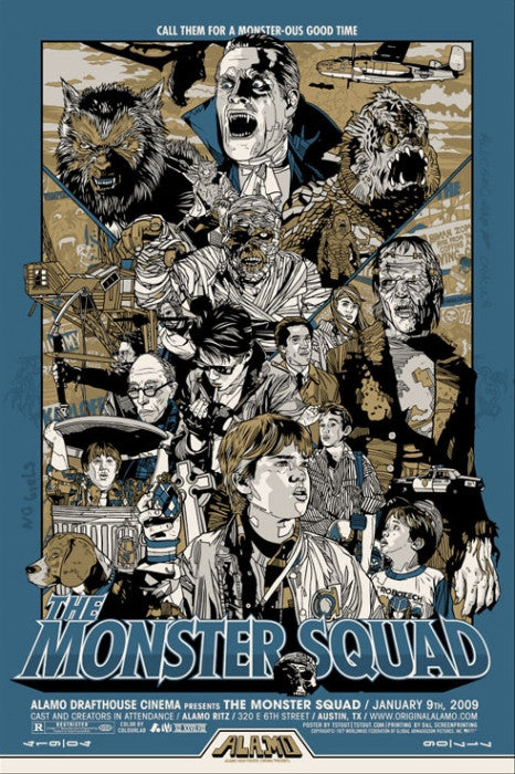 The Monster Squad  Variant Tyler Stout poster