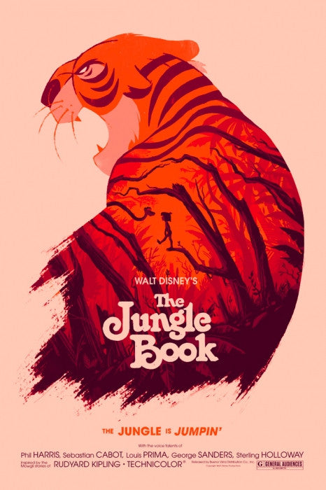 Jungle Book Olly Moss Poster