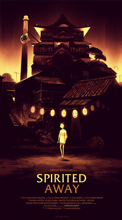 Spirited Away Olly Moss poster