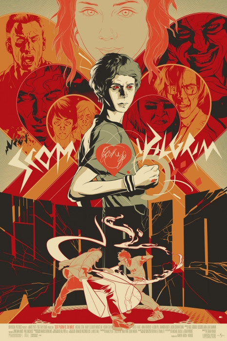 Nega Scott Pilgrim Vs The World Martin Ansin poster