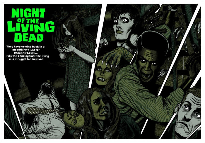 Night Of The Living Dead Florian Bertmer poster