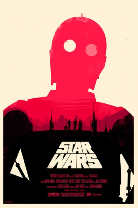 Star Wars Olly Moss poster