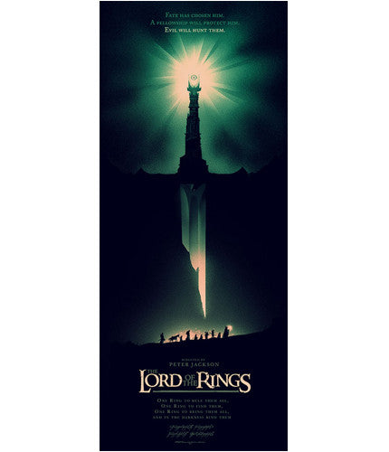 The Lord of the Rings Olly Moss poster