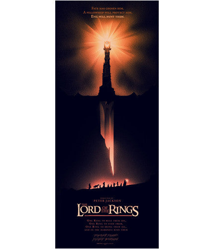 The Lord of the Rings   Variant Olly Moss poster