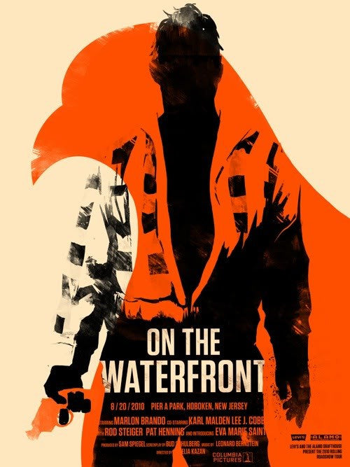 On The Waterfront Olly Moss poster