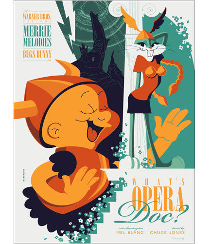 Whats Opera Doc   Variant Tom Whalen poster