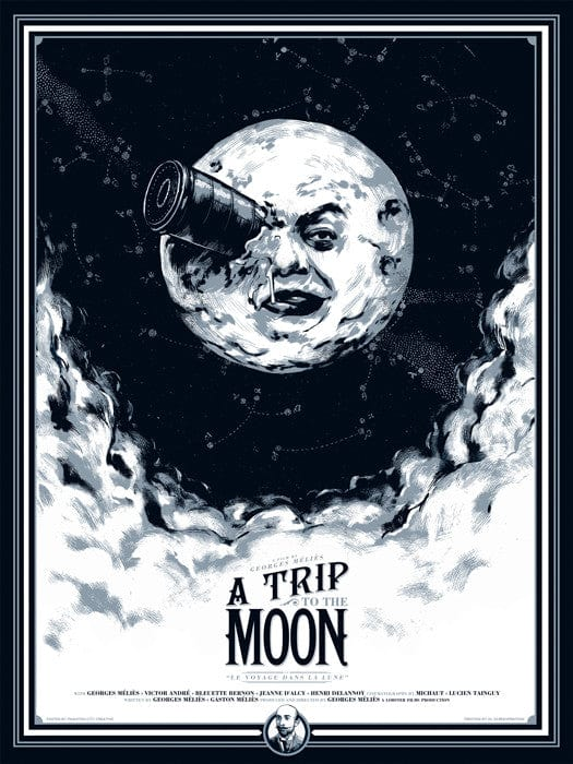 A Trip to the Moon Phantom City Creative poster
