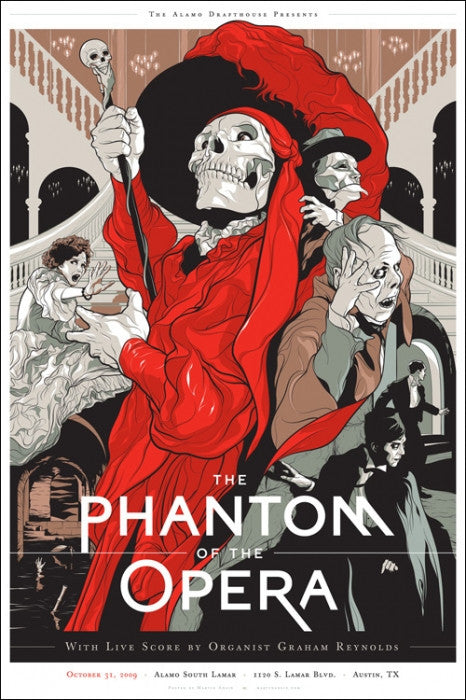 The Phantom Of The Opera  Variant Martin Ansin poster