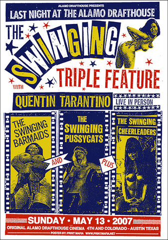 The Swinging Triple Feature Print Mafia poster