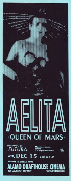 Aelita Queen Of Mars PopNoir poster