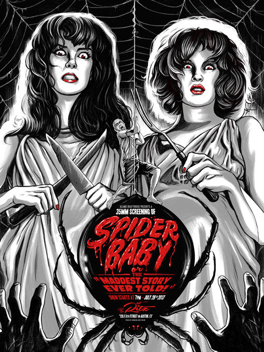 Spider Baby Ghoulish Gary Pullin poster