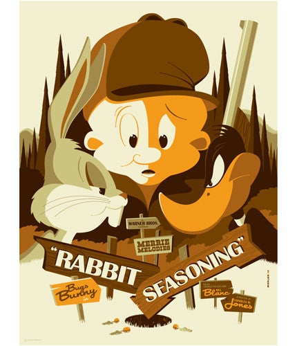 Rabbit Seasoning Tom Whalen poster