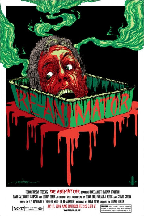 Re Animator Alex Pardee poster