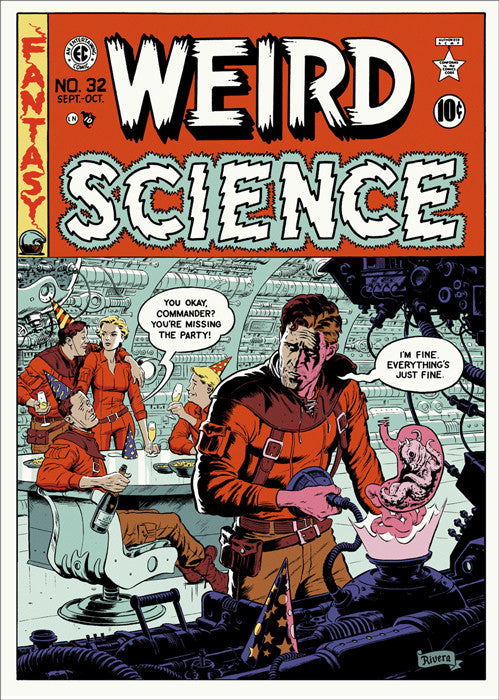 Weird Science Cover Paolo Rivera poster