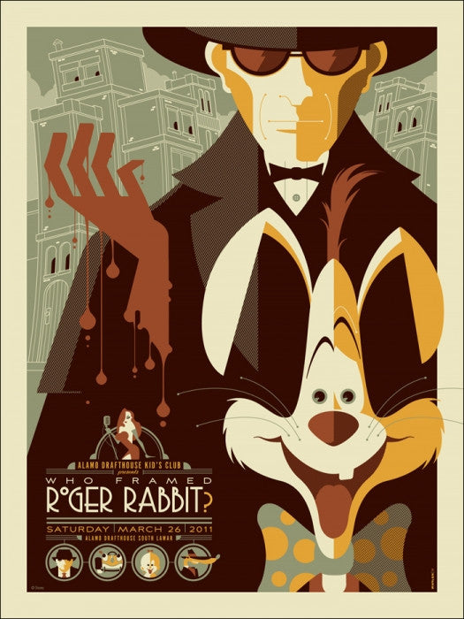 Who Framed Roger Rabbit Tom Whalen poster