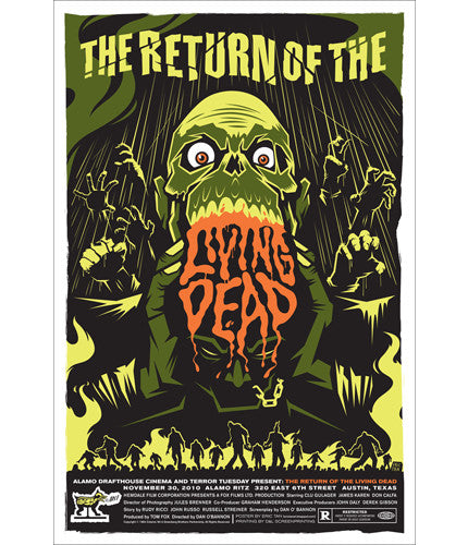Return of the Living Dead  Variant Eric Tan poster