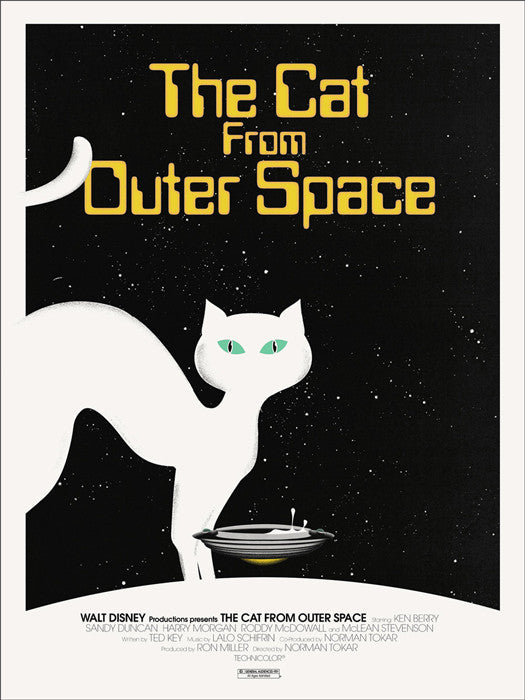 The Cat from Outer Space Jay Shaw poster