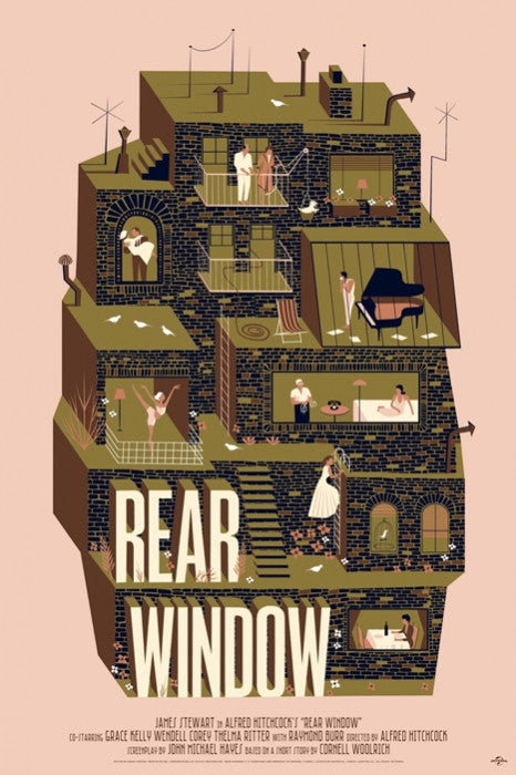 Rear Window Adam Simpson poster