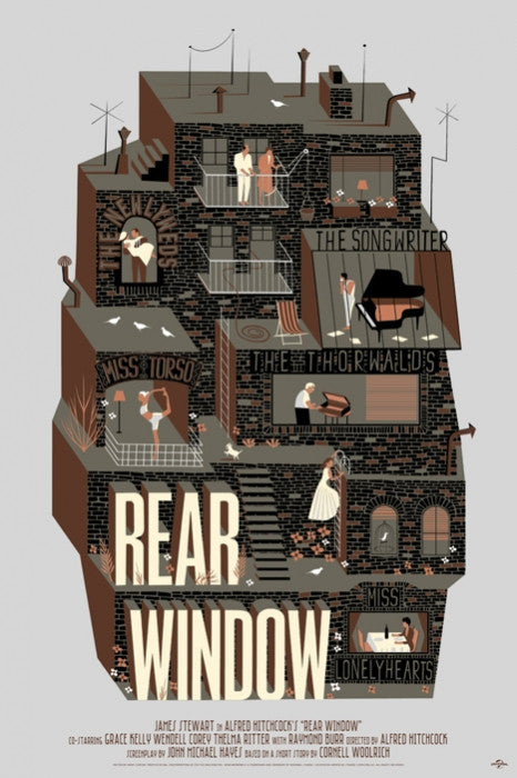 Rear Window Variant Adam Simpson poster
