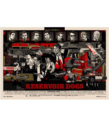 Reservoir Dogs Tyler Stout poster