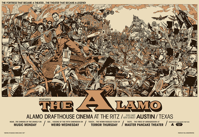 The Alamo   Ritz Edition Tyler Stout poster