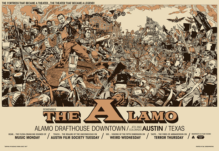 The Alamo   Variant Tyler Stout poster