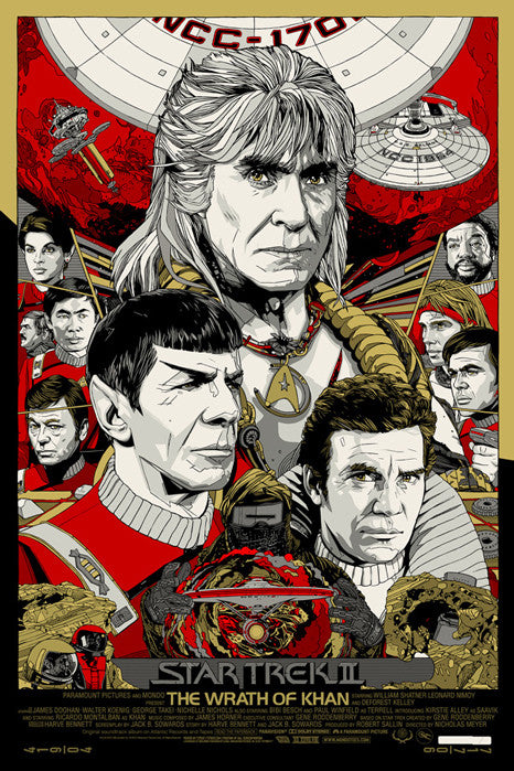 Star Trek II The Wrath of Khan Tyler Stout poster
