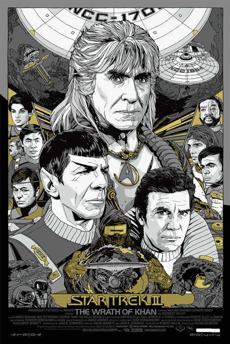 Star Trek II The Wrath of Khan   Variant Tyler Stout poster