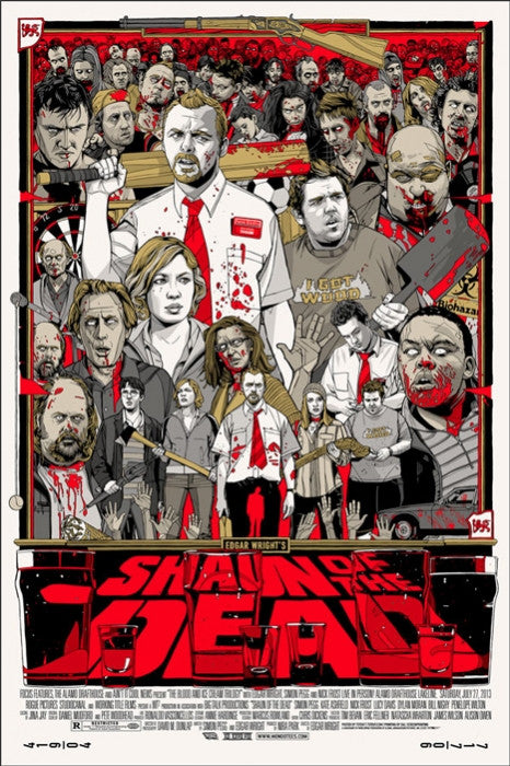 Shaun of the Dead   Stout Tyler Stout poster