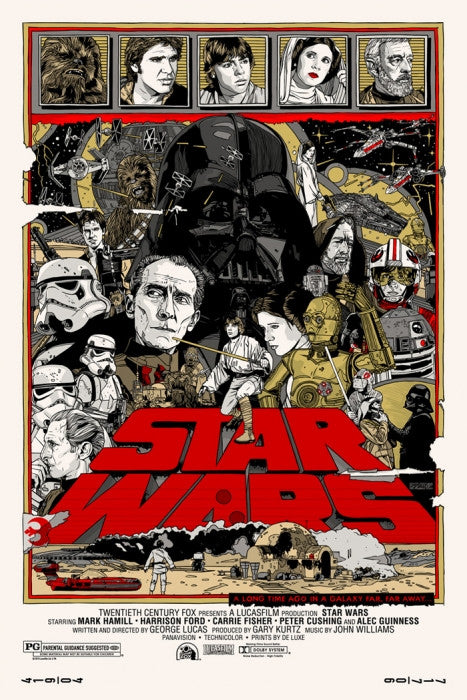 Star Wars Tyler Stout poster