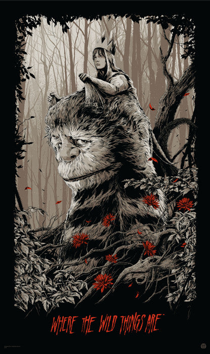 Where the Wild Things Are Variant Ken Taylor poster