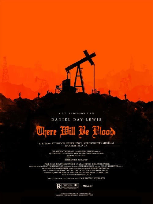 There Will Be Blood Olly Moss poster