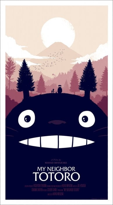 My Neighbor Totoro Olly Moss poster