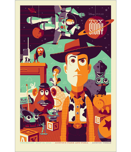 Toy Story Tom Whalen poster