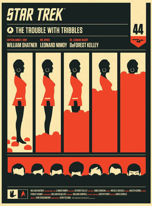 The Trouble With Tribbles  Uhura Olly Moss poster