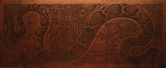 True Grit Wood Variant Aaron Horkey poster