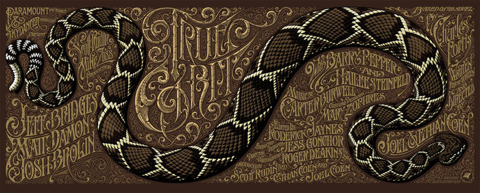 True Grit Aaron Horkey poster