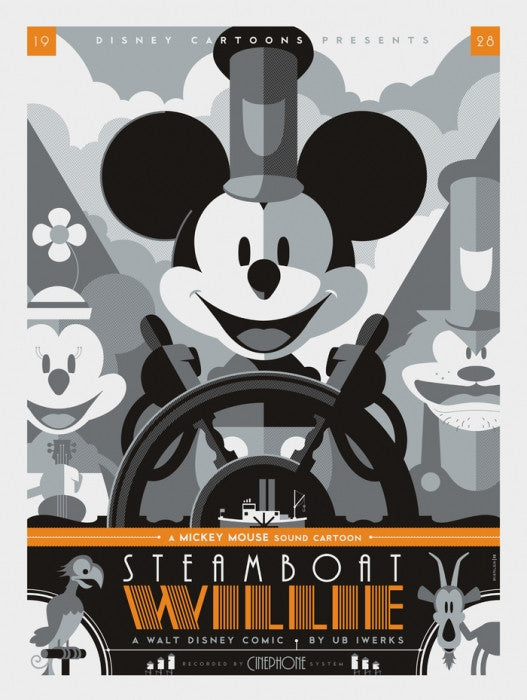Steamboat Willie Tom Whalen poster
