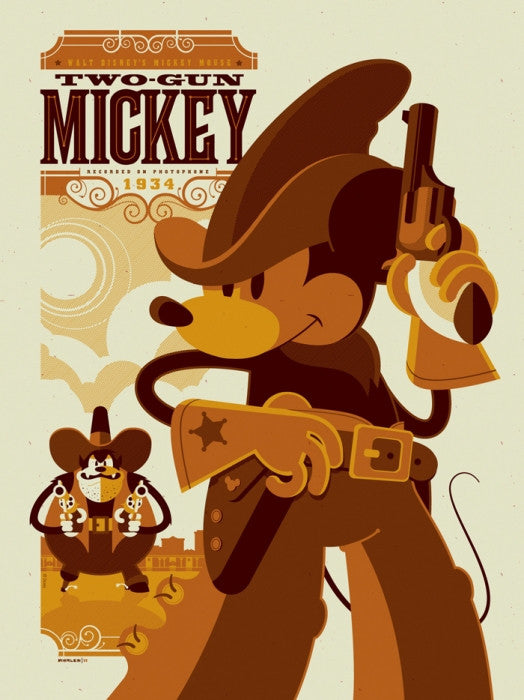 Two Gun Mickey Tom Whalen poster
