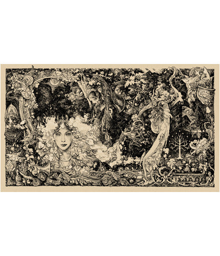 The Lord of the Rings   Sand Colorway 1 Vania Zouravliov poster