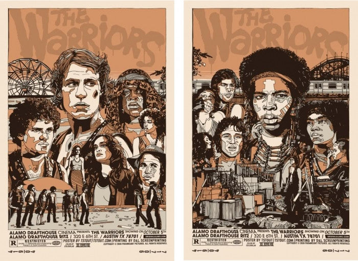 The Warriors Cut Set Tyler Stout poster