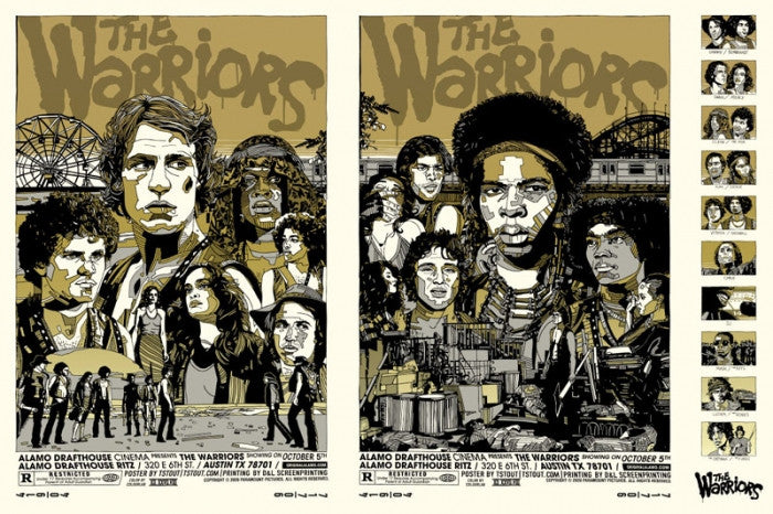 The Warriors  Variant Uncut Tyler Stout poster