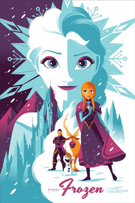 Frozen Tom Whalen poster