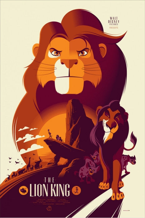 The Lion King Tom Whalen poster