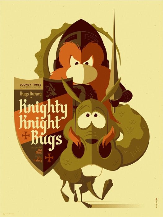 Knighty Knight Bugs Tom Whalen poster