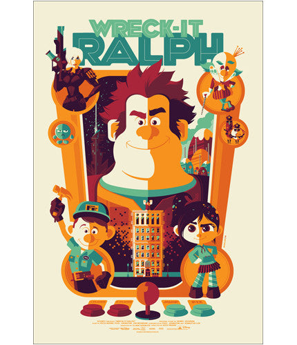 Wreck It Ralph Tom Whalen poster
