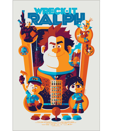 Wreck It Ralph Variant Tom Whalen poster