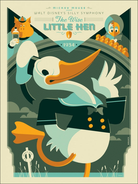 Wise Little Hen Tom Whalen poster
