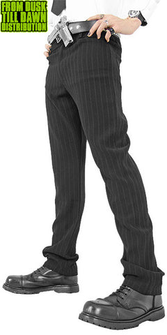 Black pinstripe trousers Black Avenger  - 1