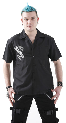 Dead Threads Black Shirt with Dragon GS-2213  - 1